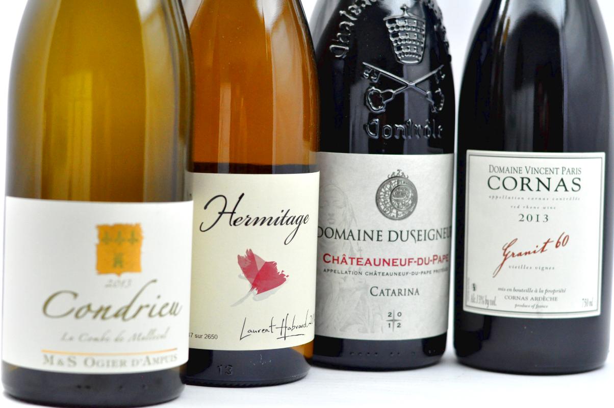 Belles étiquettes des crus de la Vallée du Rhône